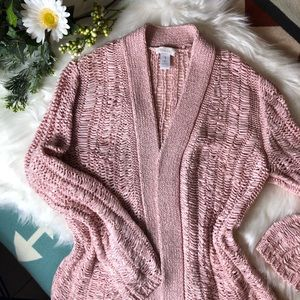 Chico's Open Knit Sweater - Easy Wearing Cardigan
